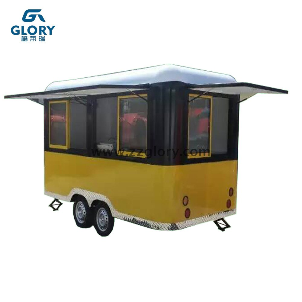 Best Designed Towing Type Fast Food Cart With CE