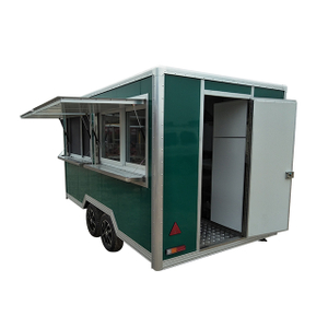 Factory Supplier Snack Food Truck Optional Colors Hamburger Selling Mobile Food Trailer for USA Standard