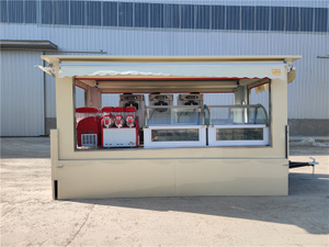 2021 American Standard Square Big Food Truck Trailer Mobile Kitchen