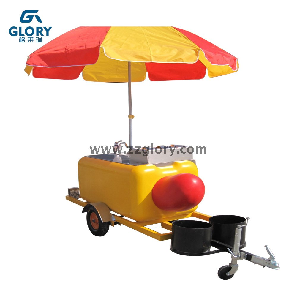 High Quality Mobile Food Carts Hot Dog Carts Food Kitchen Truck for Sale