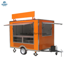 Trailer Type Billboard 2.8m Outdoor Street Mobile Food Cart Trailer