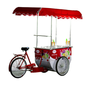 China Supplier Ice Cream Cart Gelato Ice Cream Bicycle with Umbrella