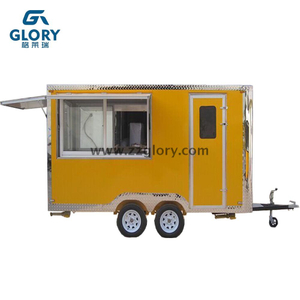 3 Windows Double Axles New Customized Mobile Food Truck