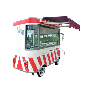 Smart Electric 4 Wheels Mobile Breakfast Street Food Carts Selling Food