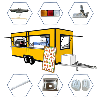 2020 Popular Snacks Car Shawarma Mobile Food Trailer with Factory Price
