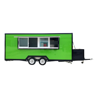 2021 Food Trailers with Bathroom Ice Cream Trailer Mobile Food Truck Vending Cart For Sale