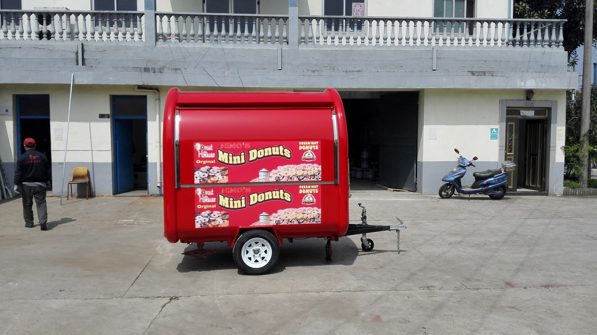 Vietnam fruit ice cream food vending cart