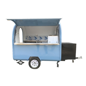China Manufacture Blue Color Catering Fast Food Trailer
